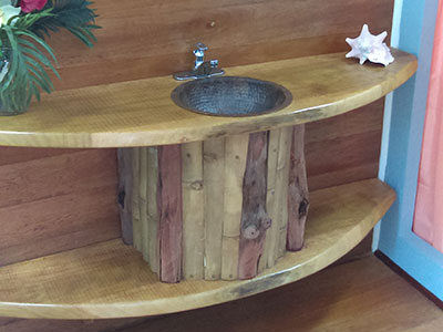 ecofriendly furniture. Bamboo Bathroom Sink Ecofriendly Furniture